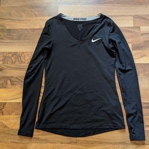 Black Nike Pro Long Sleeve with Thumb Holes